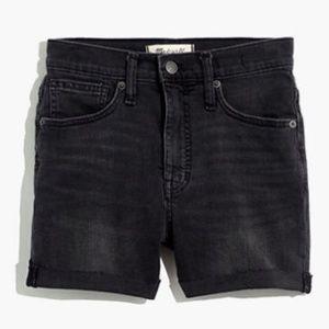 NWOT Madewell High Rise Black Denim Shorts